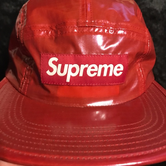 c1c62efbdb3 5 panel Hat - Red Supreme Hat - Ripstop Nylon Hat